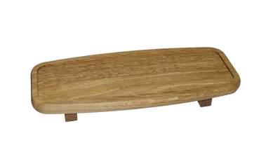 ammon dessertbank aus rustikalem holz mit 3 schalen. Black Bedroom Furniture Sets. Home Design Ideas