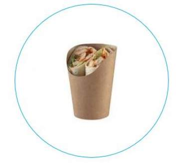 Snack Becher braun - Tortilla/